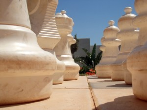 Concrete Solutions - fun chess garden